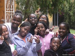 Girls at New Dawn Education Centre