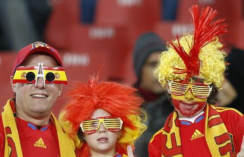 fanáticos españoles Mundial Sudáfrica