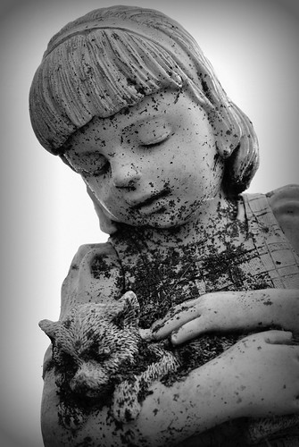 Cemetery Child's Sculpture