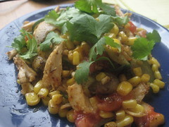 Summer veggie stir fry with chicken
