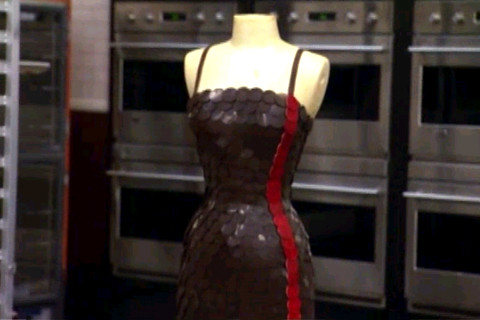 little black chocolate dress