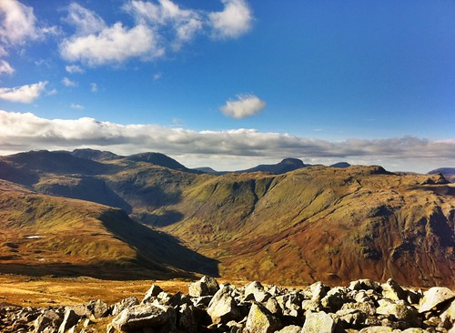 The Scafells, Glaramara, and Esk Pike
