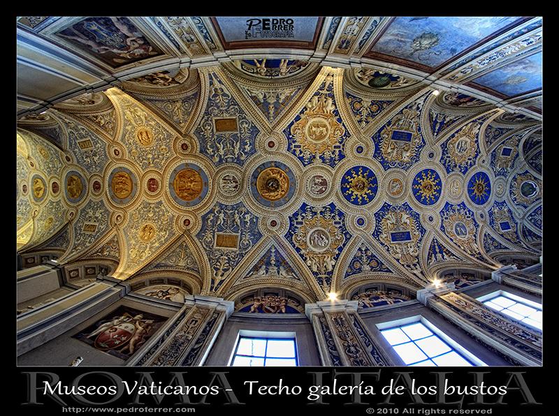 Roma - Museos Vaticanos - Techo galería de los bustos