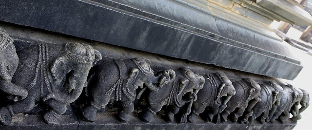 Elephant frieze at Chennakesava Temple Complex, Belur (Karnataka)