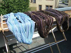 Yarn out to dry