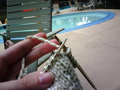 poolside knitting