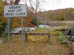 Unsafe - Keep Off - Bridge Closed