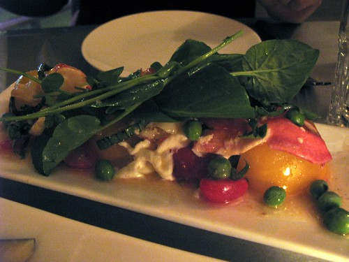 Bar Crudo - Lobster Salad with Burrata, Arugula and Heirlooms