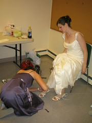 bridal shoes (amyspart) Tags: wedding vermont brian jenny