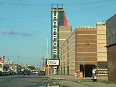 Harpo's in Detroit (DetroitDerek Photography ( ALL RIGHTS RESERVED )) Tags: blue summer music cinema sign rock metal harpers hair marquee thirties concert theater downtown michigan detroit livemusic heavymetal billboard arena venue harper deadkennedys 2007 motown motorcity harpo tyner harpertheater
