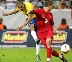 Alves in het Braziliaanse elftal