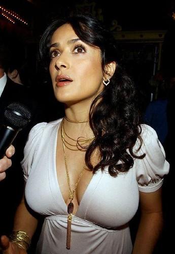 Salma hayek boob slip