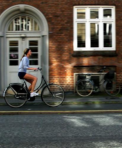Copenhagen girl on bike