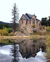 Chapel on the Rock (Michelle Kerr) Tags: lake reflection church colorado catholic religion stmalo blueribbonwinner supershot anawesomeshot diamondclassphotographer chapelontherock