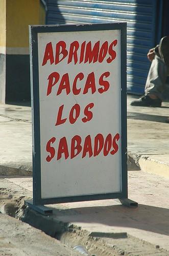 Letrero Dominicano La' Paca'