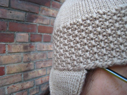 roman earflap hat - stitch detail