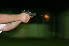 gunfire at night (LAURA HAYES PHOTOGRAPHY) Tags: fire gun nighttime weapon handgun firing p22 gunfire