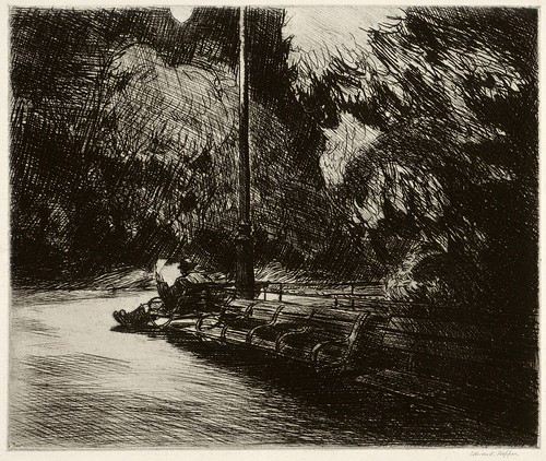 Hopper Night in the Park 1921 etching