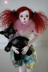 BJD Dana (Alaskabody-dolls) Tags: original anna felted cat ball kitten doll sad ooak clown fairy fantasy bjd resin anya faerie jointed    alaskabodydolls      gechtman