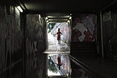 Lapin (la casa allagata) 3 (bellimarco) Tags: rabbit home graffiti casa mask bn via marco dada ferrara acqua belli sotto galleria lapin linea maschera coniglio passo paura terrore surreale pulizie dramma allagato edizioni cunicolo arginone cuniculum
