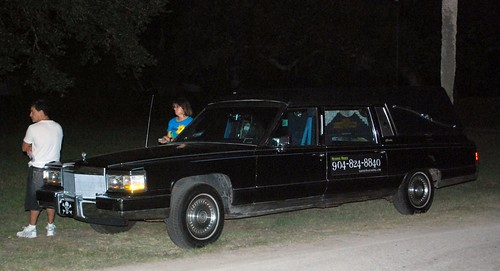 Jamie and the hearse