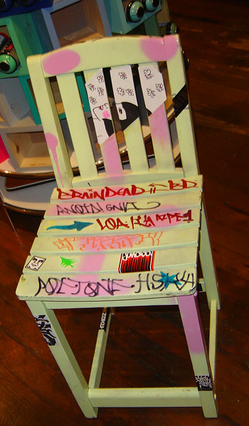 authorized graffiti stool