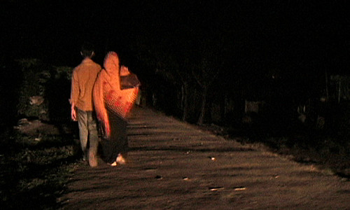 Pria walks home late at night
