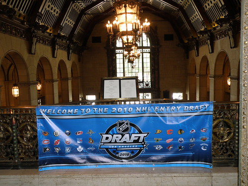 NHL entry draft banner