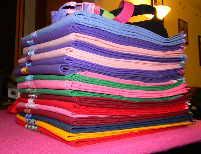 stack of aprons