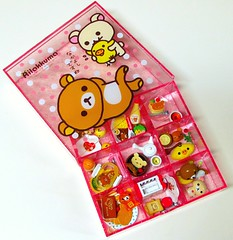 (applel0ve) Tags: cute bird set miniatures bears case container kawaii rement kuma rilakkuma sanx  korilakkuma kiiroitori