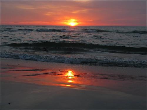 Sonnenuntergang Skiveren