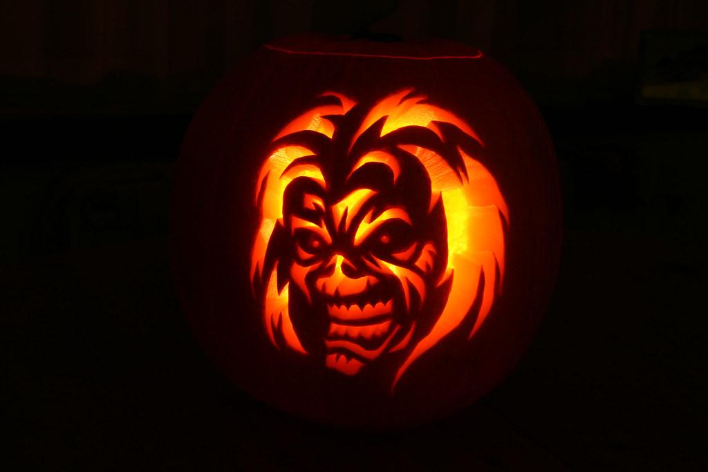 Iron Maiden Pumpkin Stencil