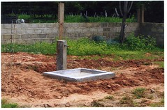 Stand pipe for garden water supply.