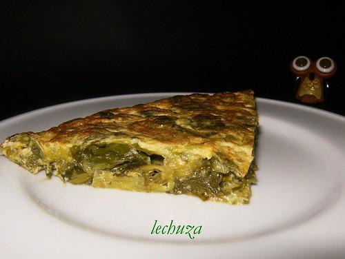 tortilla de grelos-plato