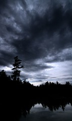 After the Storm (Michael Rugosi) Tags: blue trees white lake storm black clouds dark evergreen erie temagami
