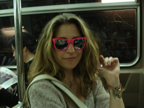 km wears my sunglasses