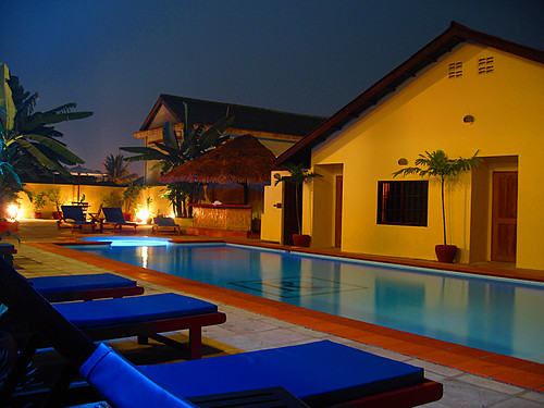 Reef Resort, night, Sihanoukville, Cambodia