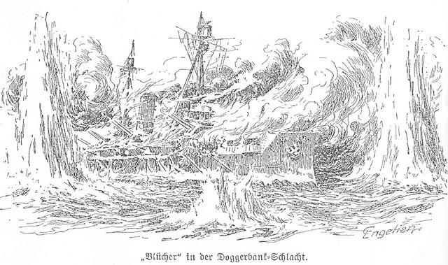 Blcher in der Doggerbank-Schlacht by Dirk Bruin