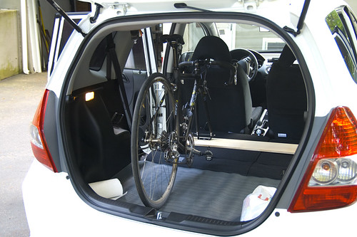 Homemade Internal Bike Rack Unofficial Honda Fit Forums