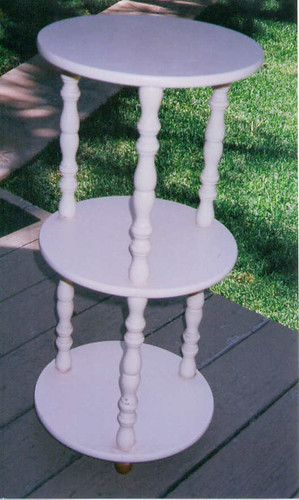 Thrifted tiered table