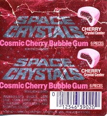 Cosmic Cherry Space Crystals gum wrapper