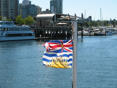 BC Flag (bvrdc) Tags: canada britishcolumbia coalharbour