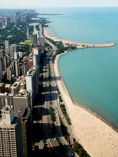 Looking north up Lake Shore Drive