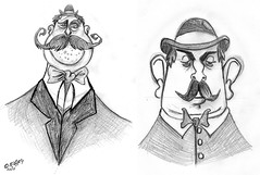 Bowler hat cartoon men