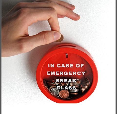 錢箱:緊急情況下打破玻璃