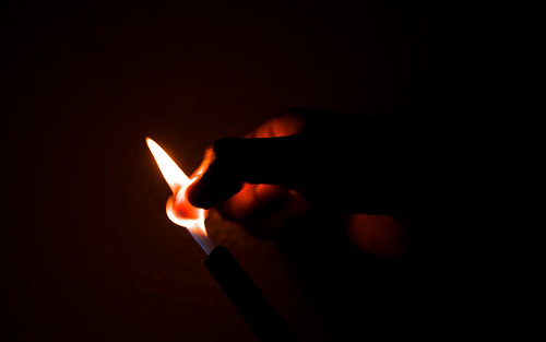 Snuffing out a flame
