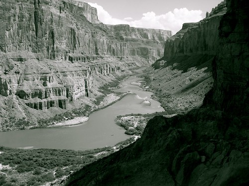 B/W of Canyon