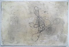 tangle (sculptress studio) Tags: art studio string process sewingthread erincurry