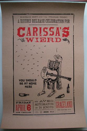 flatstock purchase : carissa's weird