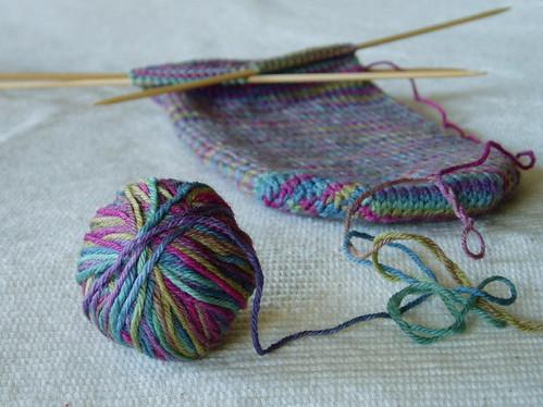 watercolor socks